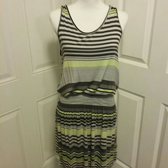 Everlast Dresses & Skirts - CLOSING SALE EVERLAST  STRIPED RIBBED  TANK DRESS